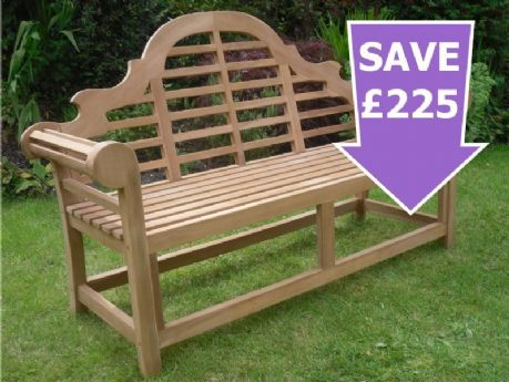 Marlborough Teak Lutyens Garden Bench 5ft 150cms Sale Now On